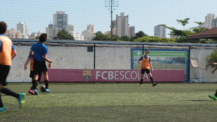 Escolinha do Barcelona no bairro da Barra Funda, em São Paulo - UOL