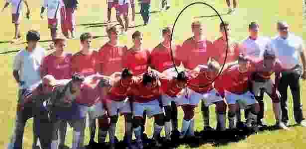 Fabiano, circulado, na escolinha do Inter antes de ser profissional - Arquivo Pessoal - Arquivo Pessoal