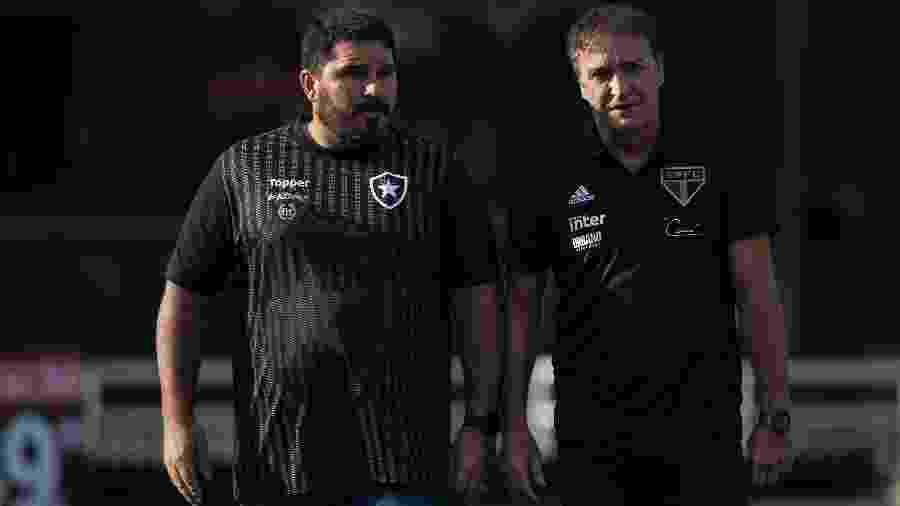 Botafogo de Barroca recebe o São Paulo de Cuca neste sábado no Nilton Santos - Daniel Vorley/Agif