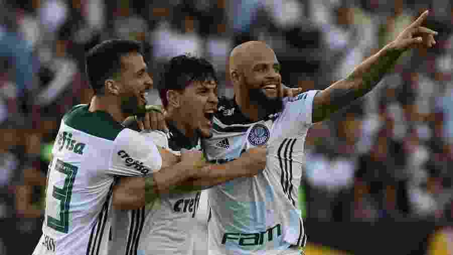 Luan e Gustavo Gómez (à esquerda) tentam ampliar sequência impressionante sem sofrer gols - Cesar Greco/Ag. Palmeiras/Divulgação