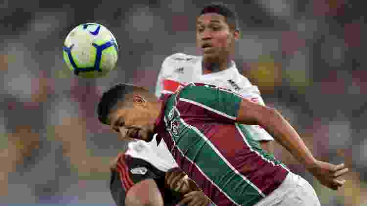 Volante Yuri em ação pelo Fluminense - Thiago Ribeiro/AGIF - Thiago Ribeiro/AGIF