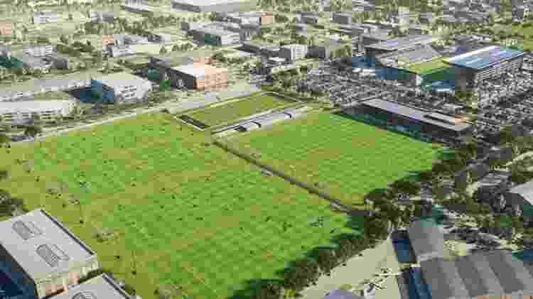 Projeto de reforma do Lockhart Stadium, antiga casa do Fort Lauderdale Strikers, que será reformada pelo Inter Miami - Divulgação/Inter Miami