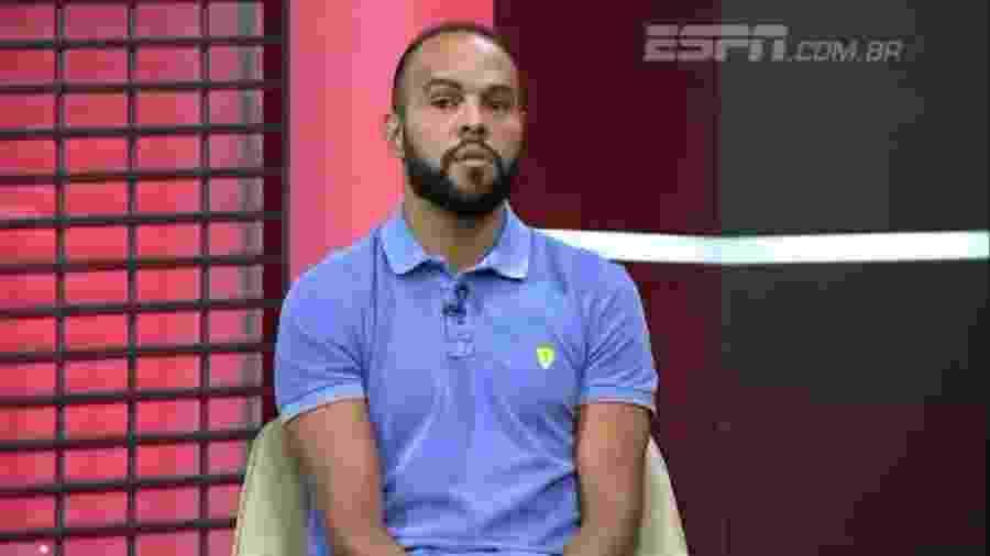 Alecsandro no Sportscenter, programa da ESPN - Reprodução/ESPN