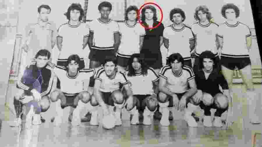 """Nelson Teich (em destaque) foi goleiro campeão de futsal no Rio na década de 70 e considerado """"fenômeno"""" por ex-companheiro - Arquivo Pessoal"""