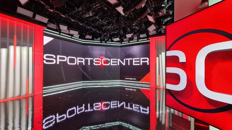 """Novo cenário do """"Sportscenter"""" na ESPN Brasil com telão de 500 polegadas - Reprodução/ESPN"""