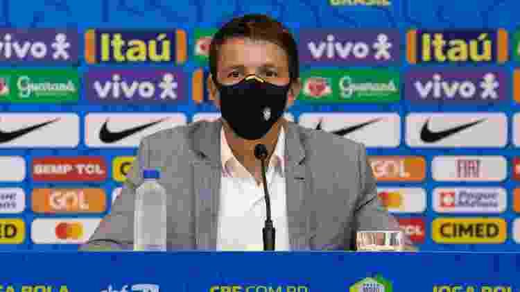 Juninho Paulista explicou volta dos jogadores que atuam na Inglaterra - Lucas Figueiredo/CBF - Lucas Figueiredo/CBF