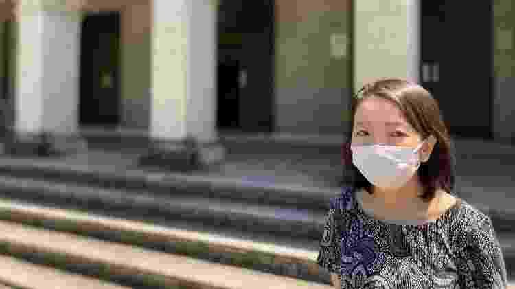 Médica japonesa Haruka Sakamoto, pesquisadora do departamento de políticas de saúde global da Universidade de Tóquio - Juliana Sayuri/UOL - Juliana Sayuri/UOL