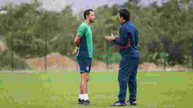 Nenê e Fernando Diniz tinham boa relação, mas técnico não via necessidade do reforço no Fluminense - Lucas Merçon/Fluminense FC - Lucas Merçon/Fluminense FC
