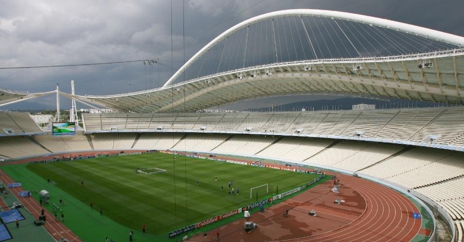 Estádio Olímpico de Atenas, em 2007, antes da final da Liga dos Campeões