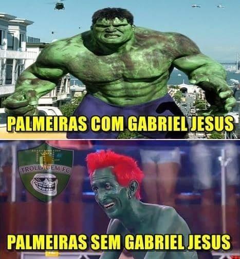 Torcedores tiram sarro da ausência de Gabriel Jesus do Palmeiras