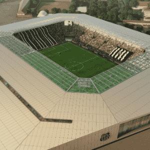 Vista geral da Arena Santos, segundo projeto - Divulgação / Conexão 3