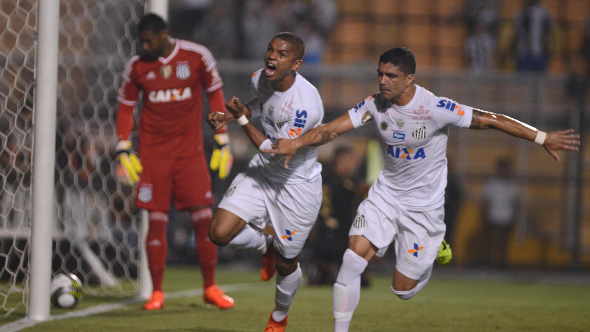 David Braz faz o primeiro do Santos contra a Ponte Preta