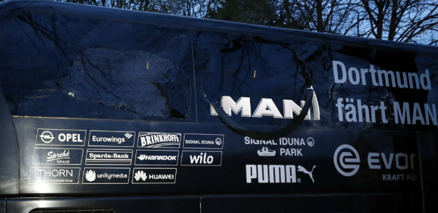 Bomba danificou ônibus do Borussia Dortmund e feriu o zagueiro Bartra