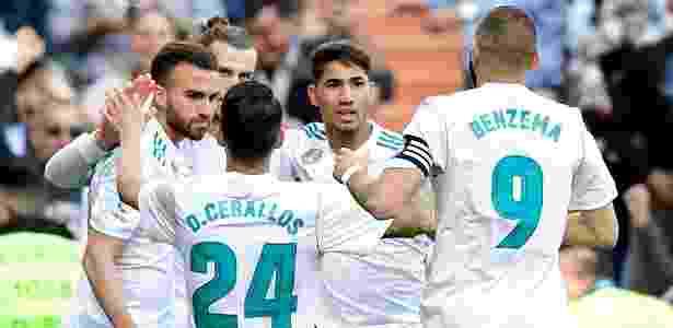 Jogadores do Real Madrid celebram o gol marcado por Bale - AFP - AFP