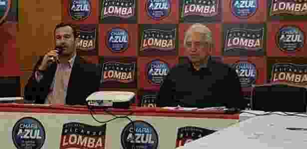 Ricardo Lomba, vice de futebol e candidato à presidência, teve desfalque de Bandeira - Vinicius Castro/UOL