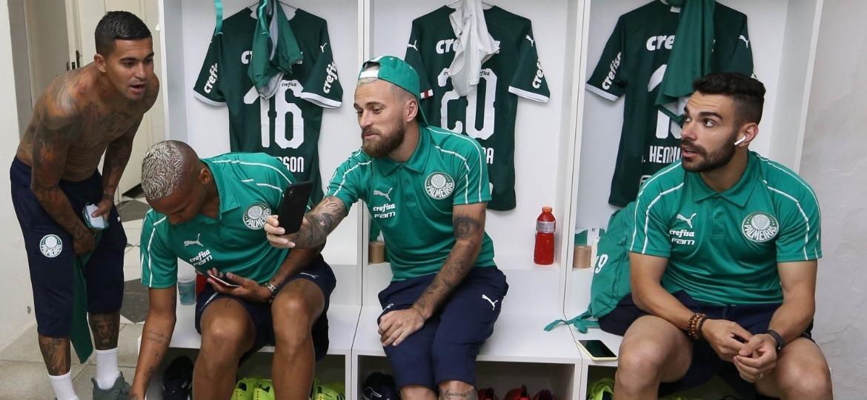 Dudu, Deyverson, Lucas Lima e Bruno Henrique são jogadores bancados pela Crefisa - Cesar Greco/Ag. Palmeiras/Divulgação