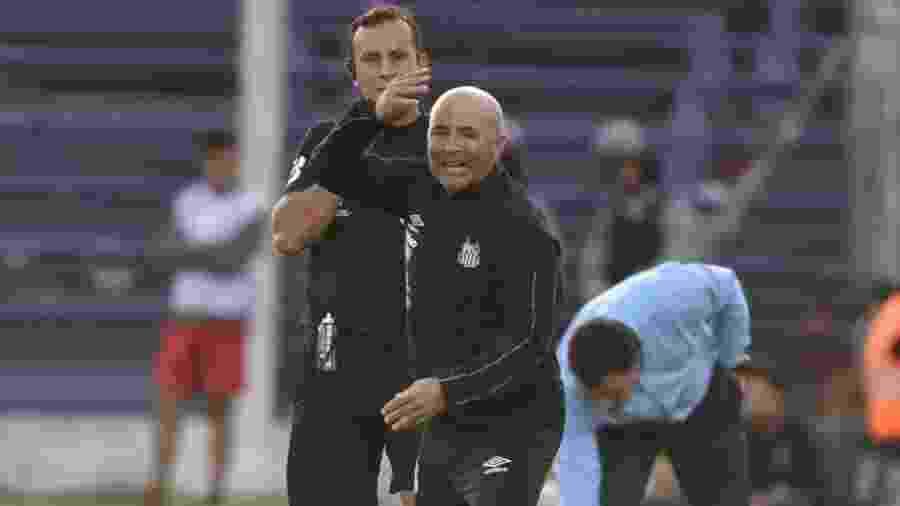 Sampaoli reclama durante o jogo contra o River Plate (URU) - Ivan Storti/Santos FC
