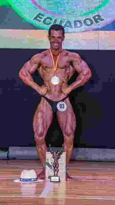 Juscelino dos Santos, o Jussa, praticante de fisiculturismo do Brasil que vai disputar o Pan-Americano de Lima, apesar da doença de chagas - Divulgação