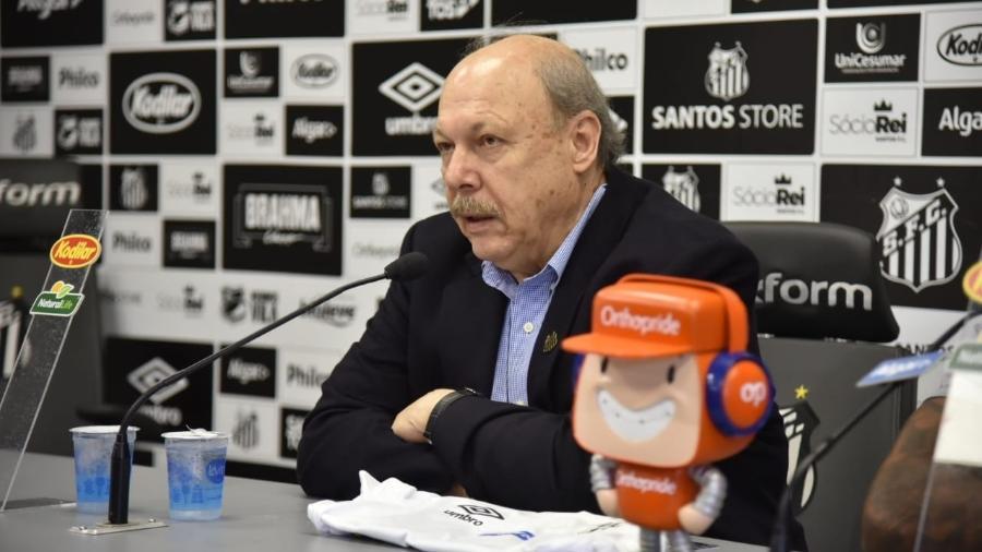 José Carlos Peres, presidente do Santos - Ivan Storti/Santos FC