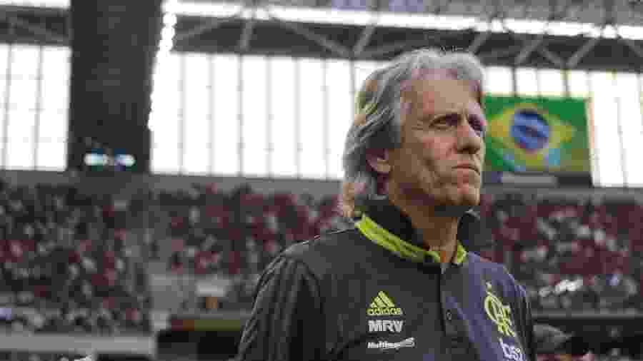 Português Jorge Jesus mudou a cara do time desde que assumiu o Flamengo - João Vitor Rezende Borba/Agif