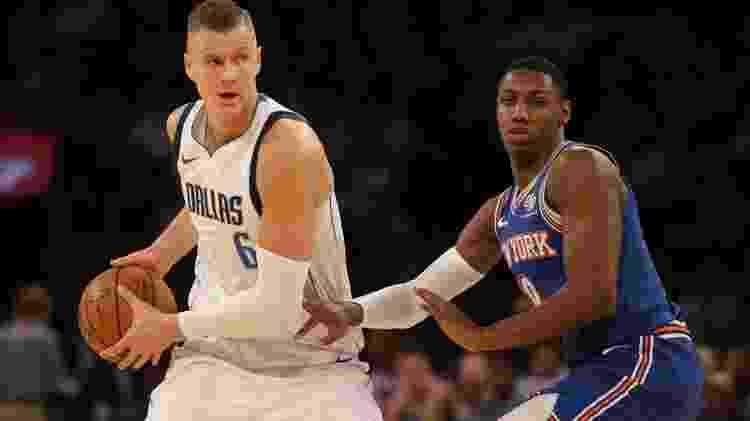 Porzingis se tornou estrela em NY, mas acabou trocado e hoje se destaca com a camisa do Dallas Mavericks - Brad Penner/USA Today