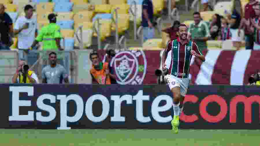 Nenê, do Fluminense, comemora gol diante do Botafogo pelo Campeonato Carioca - Thiago Ribeiro/AGIF