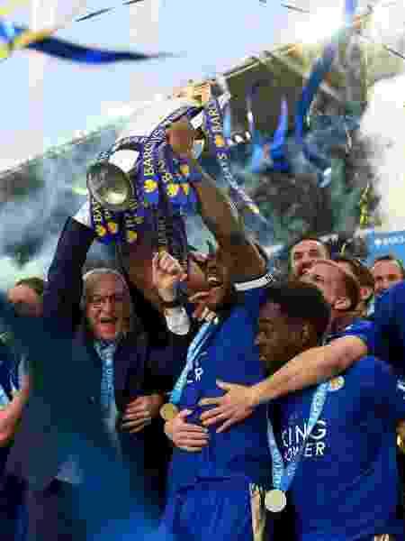 Leicester comemorando o título da Premier League em 2016 - Michael Regan/Getty Images