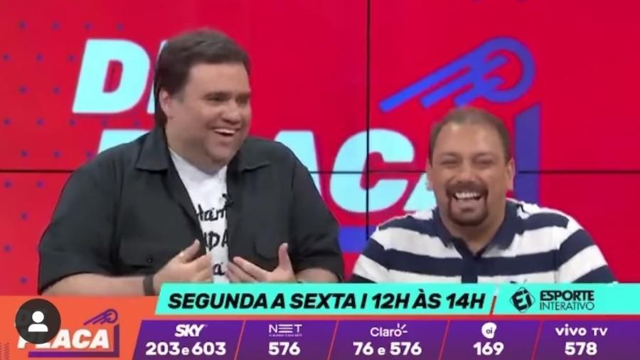 Alê Oliveira e Rodrigo Rodrigues, ex-companheiros de Esporte Interativo e de ESPN - Reprodução/Instagram