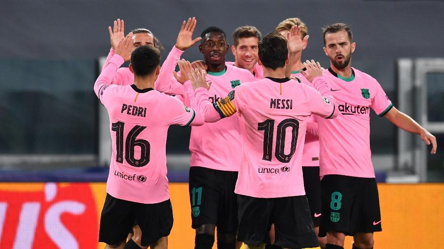 Barcelona em campo pela Champions League -  Valerio Pennicino/Getty Images