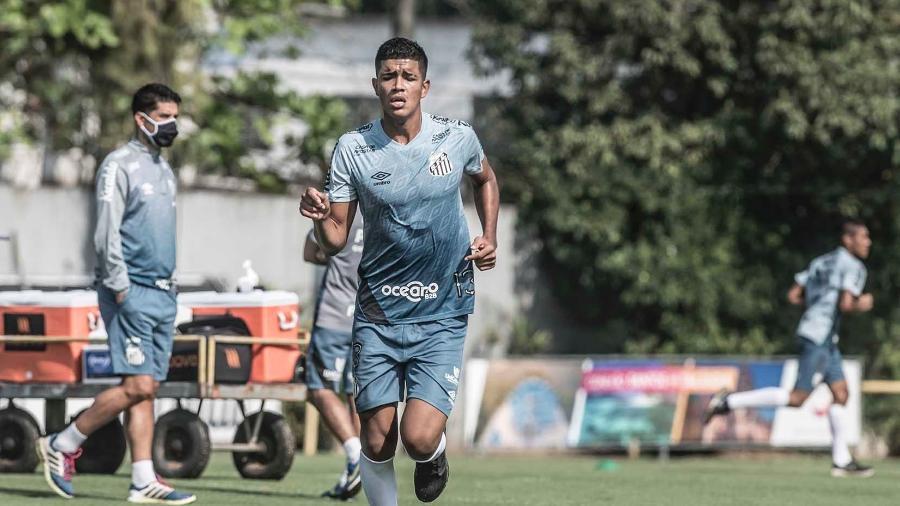 Lucas Barbosa, meia do Santos - Ivan Storti/Santos FC