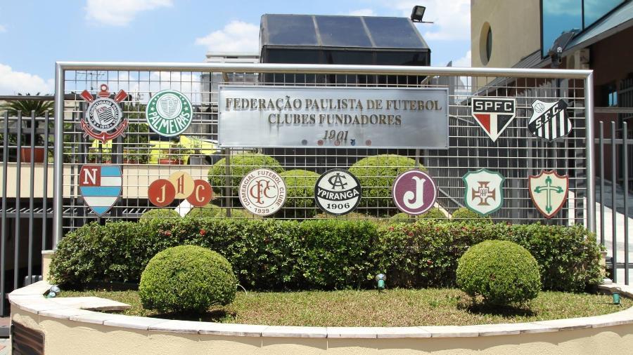 Fachada da sede da Federação Paulista de Futebol, na zona oeste de São Paulo - Divulgação