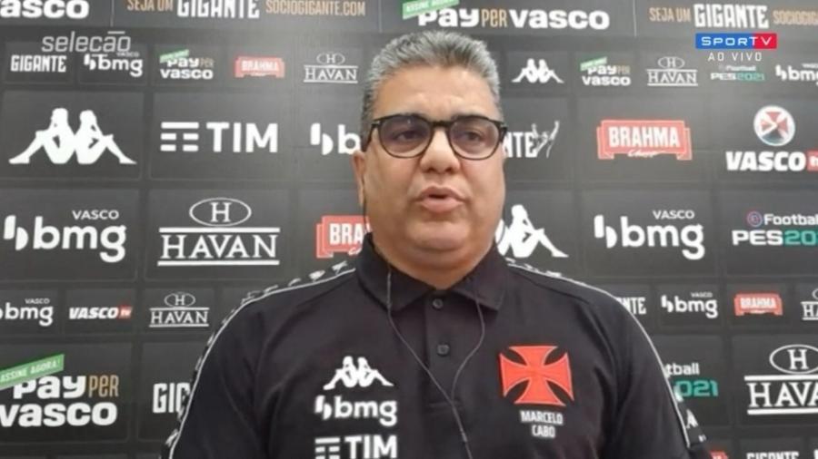 """Técnico do Vasco, Marcelo Cabo vê Série B """"mais difícil"""" que Série A - Reprodução/SporTV"""
