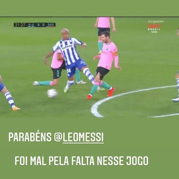 Deyverson relembrou falta em Messi ao parabenizar argentino pelo aniversário