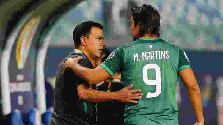 Marcelo Moreno entrou aos 15 minutos do segundo tempo, mas teve uma atuação apagada pela Bolívia - Twitter da Copa América - Twitter da Copa América