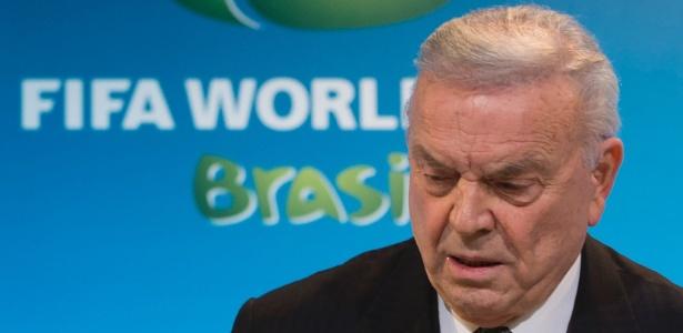 José Maria Marin, ex-presidente da CBF, é um dos réus do processo - Felipe Dana-27.mar.2014/AP