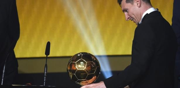 Última Bola de Ouro da Fifa foi dada a Messi