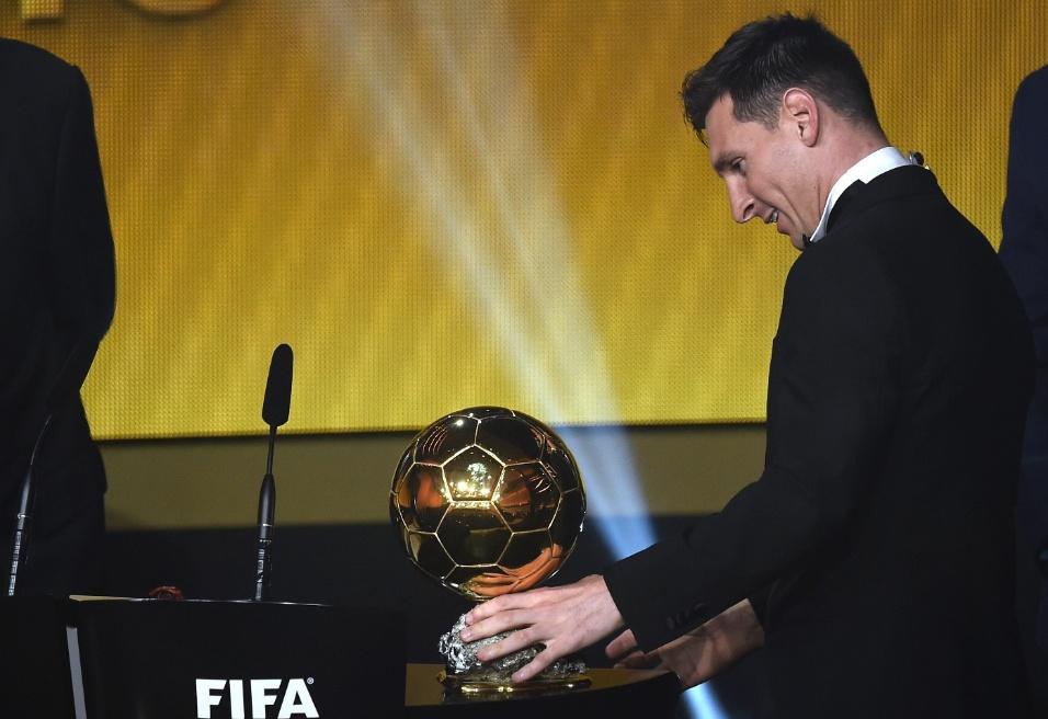 Messi havia ganhado a Bola de Ouro pela última vez em 2013