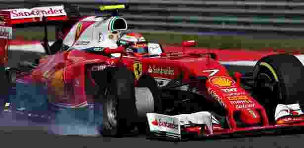 A Ferrari teve problemas com os pneus em Silverstone - Charles Coates/Getty Images