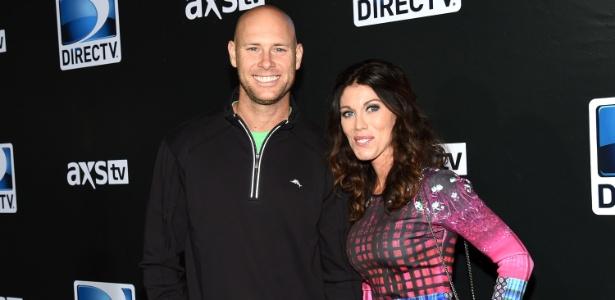 Josh Brown ao lado da ex-mulher, Molly, em foto de janeiro de 2015