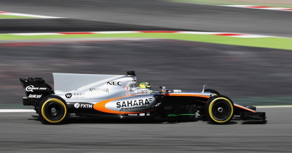 Sergio Perez e a nova Force India, que colocou como meta entrar no top 3 em 2017