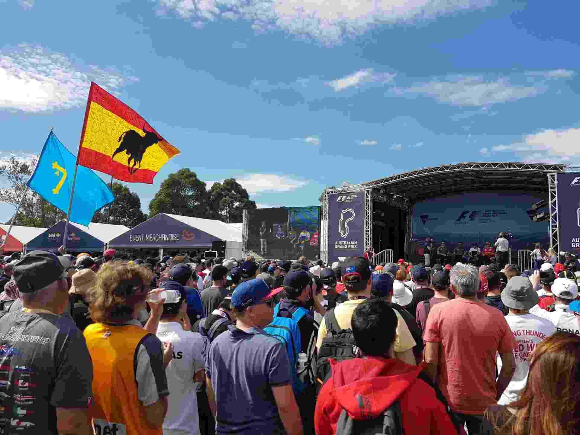 Ambiente da F-1 no circuito de Albert Park, em Melbourne - Julianne Cerasoli/UOL Esporte