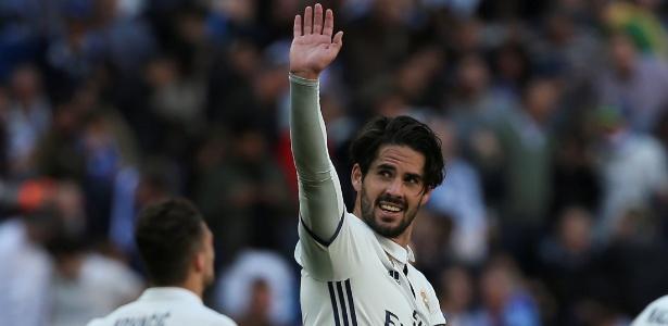 Isco comemora gol do Real Madrid contra o Alavés
