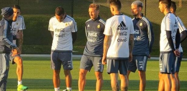 Sampoli faz primeiro treino pela Argentina, que se prepara para amistoso com o Brasil