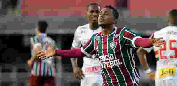 Wendel sai para comemorar gol do Fluminense contra o São Paulo - LUCAS MERÇON / FLUMINENSE F.C.