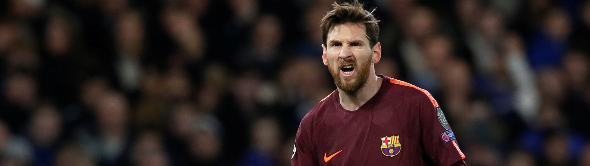 Barcelona Chelsea Messi careta