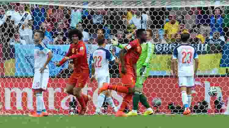 Divock Origi fez o gol da vitória da Bélgica sobre a Rússia por 1 a 0 na Copa do Mundo de 2014 - William Van Hecke/Corbis via Getty Images - William Van Hecke/Corbis via Getty Images