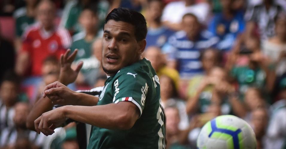 Gustavo Gómez, durante partida entre Palmeiras e Botafogo