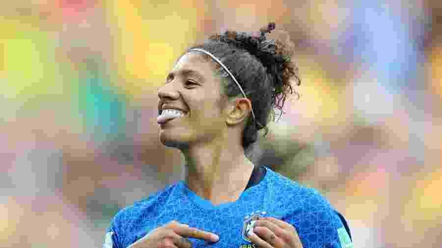 Cristiane comemora gol da seleção brasileira sobre a Austrália  - Elsa/Getty Images