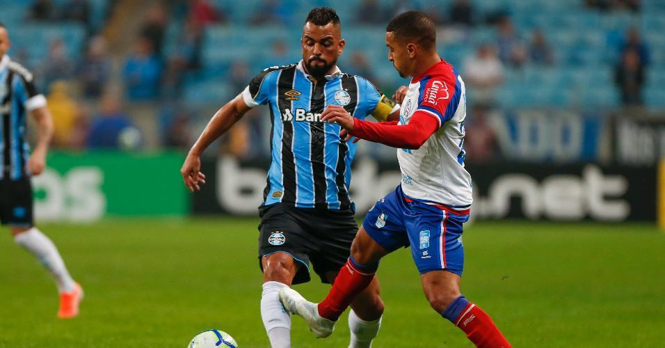 Maicon, durante partida entre Grêmio e Bahia