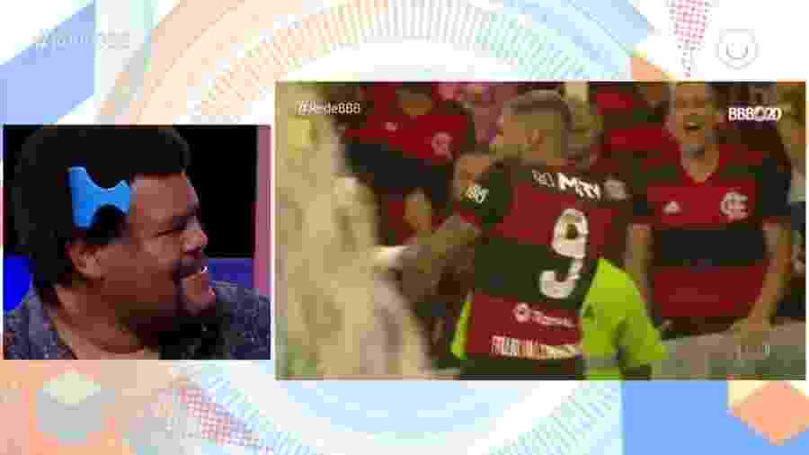 """Babu vê dancinha de Gabigol ao vivo no """"Rede BBB"""", transmitido de madrugada pelo Globoplay - Reprodução/Globoplay"""